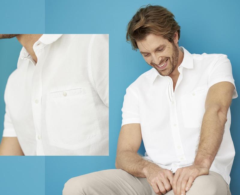 Männerhemd in Weiß