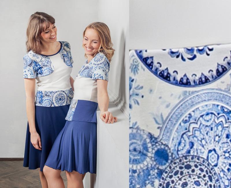 Kleid aus Viskose oder Kombination aus Oberteil und Rock - MADE in Dresden