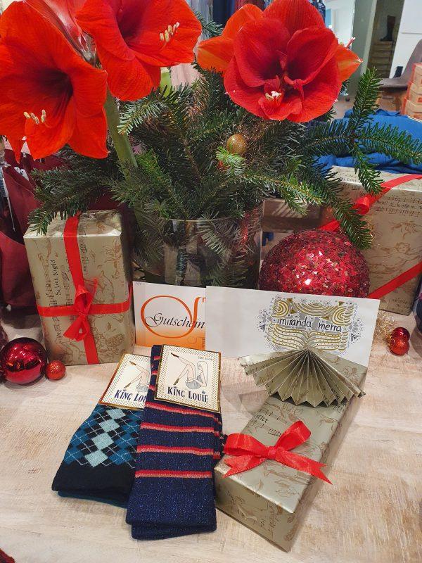 Geschenkset, Weihnachten, Socken Gutschein