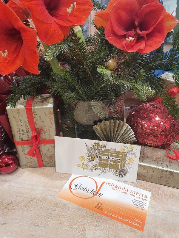 Gutschein zum Verschenken, weihnachtsidee, Geschenkidee